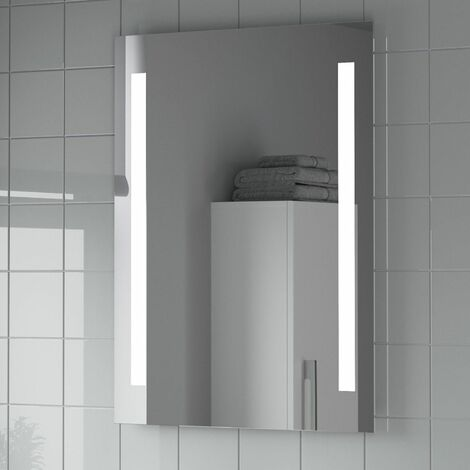 "main image of ""Bathroom Mirror LED Illuminated Mains Power Contemporary IP44 Rated 600x800mm"""