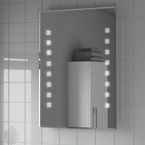 Bathroom Mirror LED Illuminated Mains Power Modern Demister IP44 Rated 600x800mm