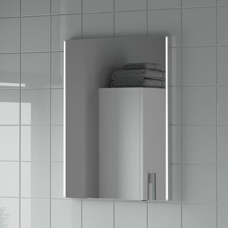 "main image of ""Bathroom Mirror LED Illuminated Rectangular Battery Power Modern IP44 450x600mm"""