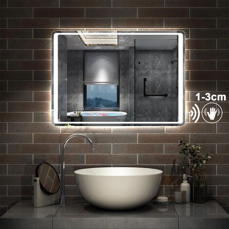 Bathroom Mirror LED Light with Motion Sensor,Demister,Cool White,Hand Wave Control
