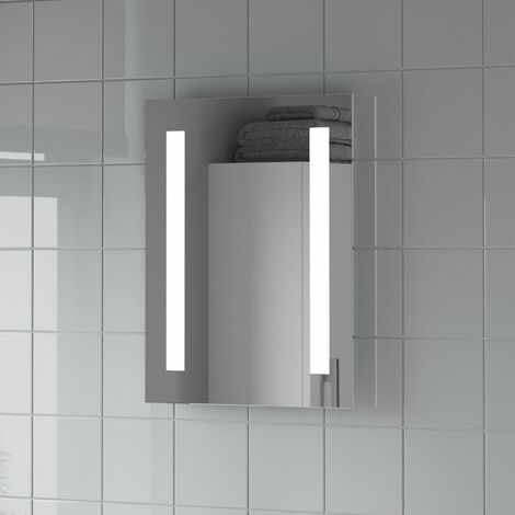 """main image of """"Bathroom Mirror LED Lights Wall Rectangular Battery Powered IP44 Rated 390x500mm"""""""