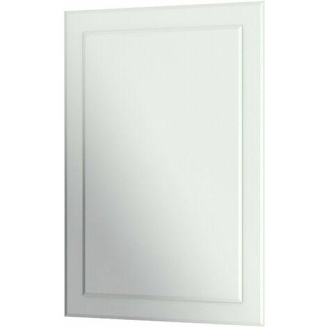 Bathroom Mirror Rectangular Luxury Frameless Wall Mounted 500x700mm
