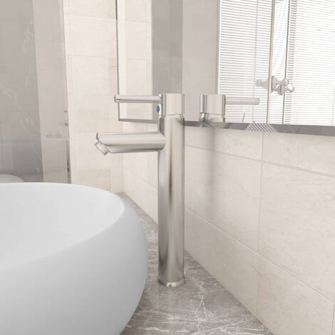 "main image of ""Bathroom Mixer Tap Silver 12x30 cm"""