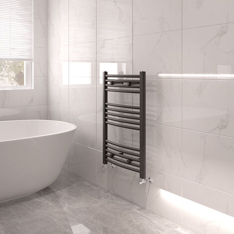 Bathroom Mordern Straight Curved Heated Towel Rail Radiator Central Heating Ladder Warmer Anthracite