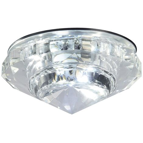 Bathroom Origins Crystal LED Downlight Ceiling Mounted Cool White Light