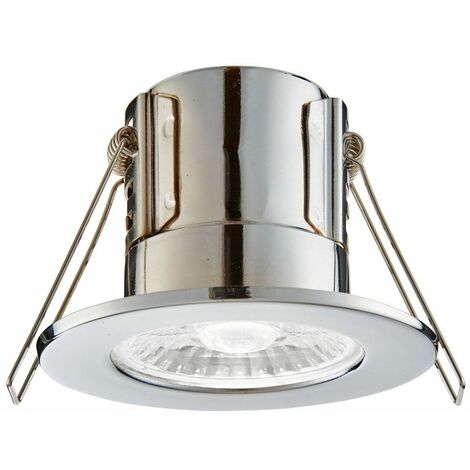 Bathroom Origins Shield ECO LED Downlight Bathroom Dimmable Chrome Natural White
