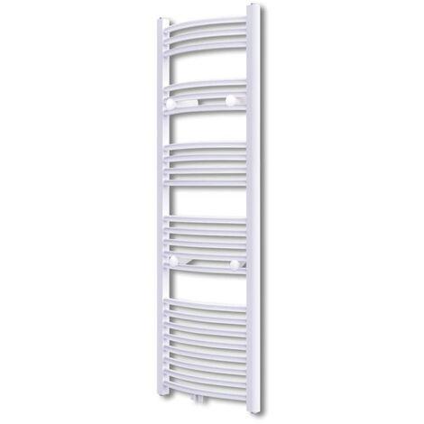 Bathroom Radiator Central Heating Towel Rail Curve 500 x 1424 mm - White