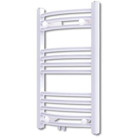 Bathroom Radiator Central Heating Towel Rail Curve 500 x 764 mm - White