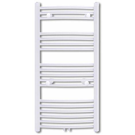 Bathroom Radiator Central Heating Towel Rail Curve 600 x 1160 mm QAH03741