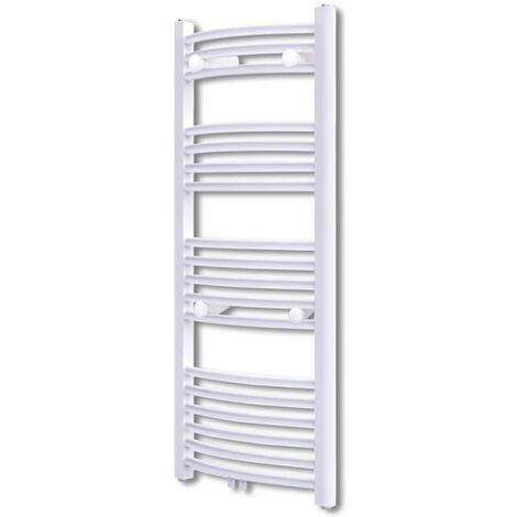Bathroom Radiator Central Heating Towel Rail Curve 600 x 1160 mm - White