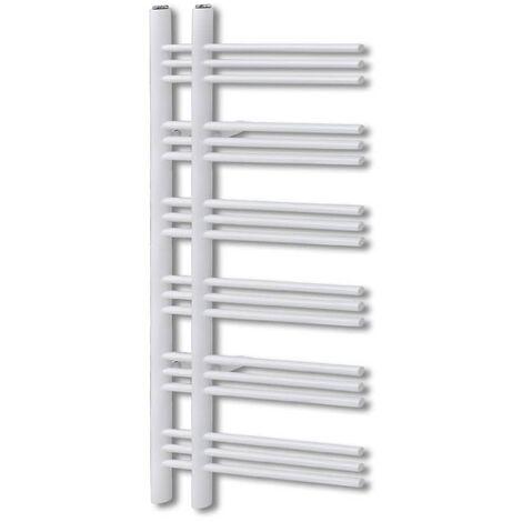Bathroom Radiator Central Heating Towel Rail E Shape 600 x 1200 mm - White