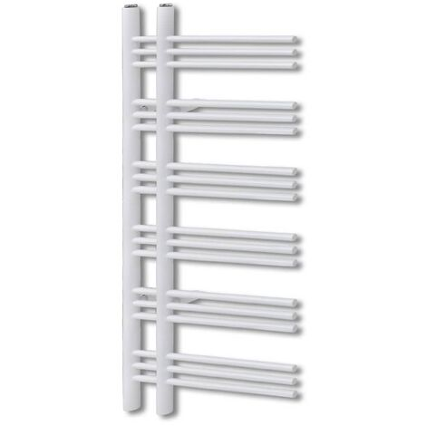 Bathroom Radiator Central Heating Towel Rail E Shape 600 x 1200 mm - White