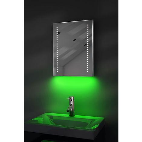Bathroom Shaver Mirror with UnderLighting, Bluetooth, Demist & Sensor k36sGaud