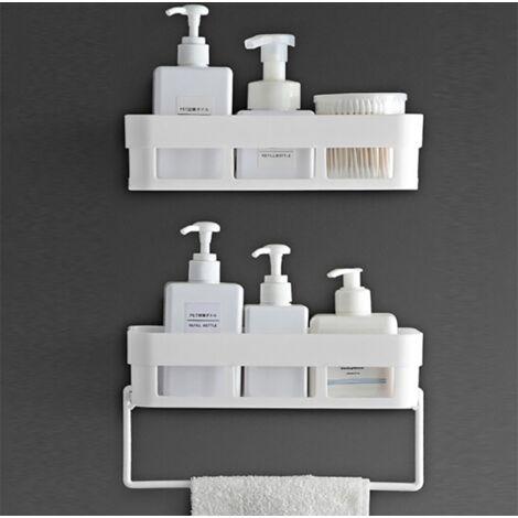 "main image of ""Bathroom Shelf Bathroom Free Punching Toilet Bathroom Bathroom Vanity Rack Shower Room Kitchen Wall Storage Holder Soap Box Set of 2"""