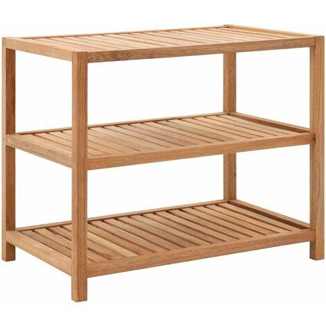 Bathroom Shelf Solid Walnut Wood 65x40x55 cm