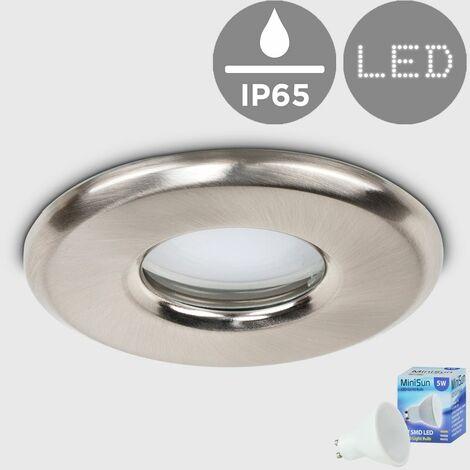 Bathroom Shower IP65 Rated GU10 Recessed Ceiling + GU10 LED Bulb