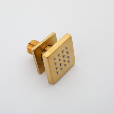 Bathroom Shower Pomme Brushed Gold Square Shower Head