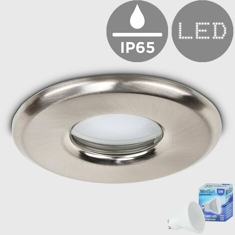 Bathroom Shower Soffit Ip65 Rated Gu10 Recessed Ceiling + Gu10 LED Bulb