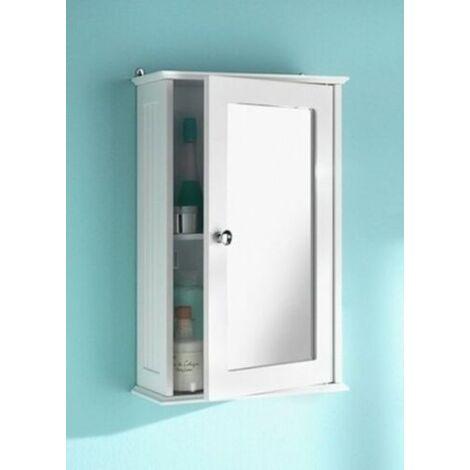 Bathroom Single Door Mirror Cabinet Bathroom SAXONY G-0067 white Bathroom Wall Cabinets