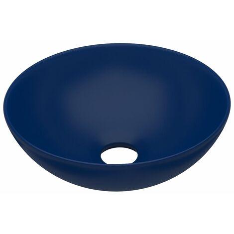 Bathroom Sink Ceramic Dark Blue Round