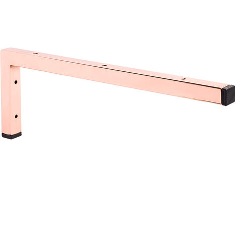 Bathroom sink support bracket in pink gold finish