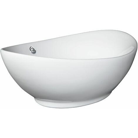 Bathroom sink top piece ceramic - ceramic sink, toilet sink, vanity sink - white