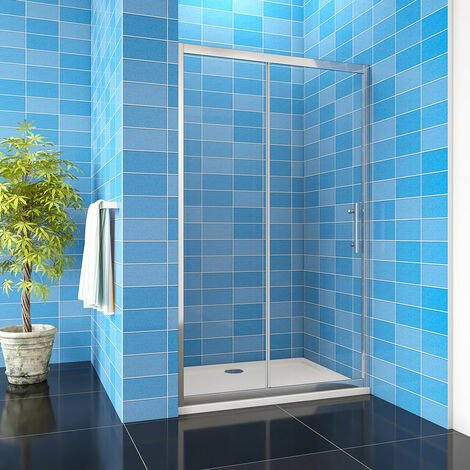 """main image of """"Aica Easy Clean Glass 8mm Sliding Door Shower Enclosure Tray Optional"""""""