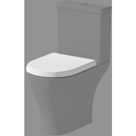 """main image of """"Bathroom Soft Close White WC Toilet Seat D Shape Spare Replacement"""""""