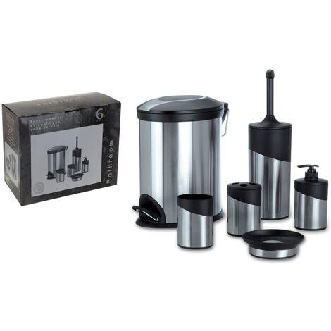 Bathroom Solutions 6 Piece Bathroom Set Stainless Steel