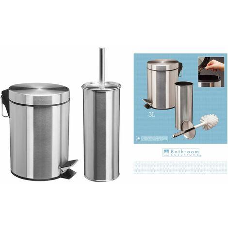 Bathroom Solutions Accesorios cuarto de baño 2 piezas acero inoxidable