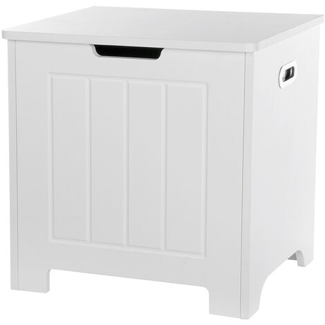 Bathroom Storage Cabinet 48x40x50cm White Laundry Basket