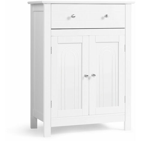 "main image of ""Bathroom Storage Cabinet Home Office Furniture W/ Large Drawer Adjustable Shelf"""