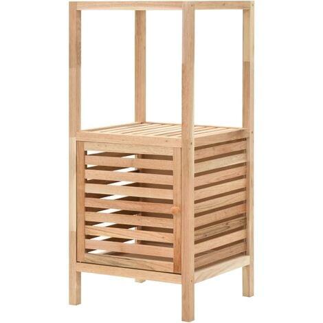 Bathroom Storage Cabinet Solid Walnut Wood 39.5x35.5x86 cm - Beige
