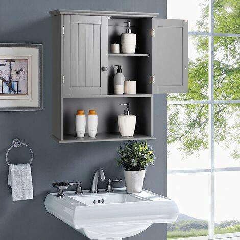 Bathroom Storage Cabinet Wall Mounted Vanity Storage Cupboard w/Adjustable Shelf