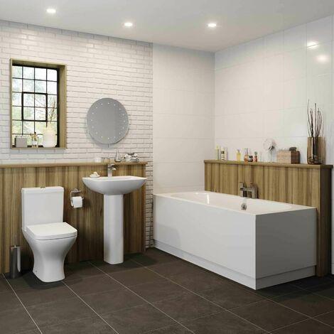 Bathroom Suite Double Ended Bath Close Coupled Toilet Basin 1700
