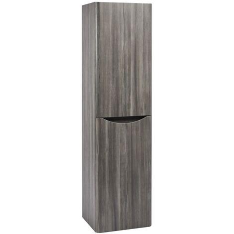 Bathroom Tall Cabinet Storage Cupboard Wall Hung Cabinet Shelf Unit Avola Grey