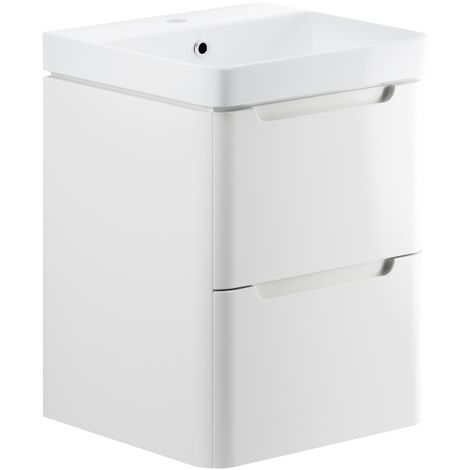 Bathroom To Love Lambra 500 wall hung vanity unit and basin in white