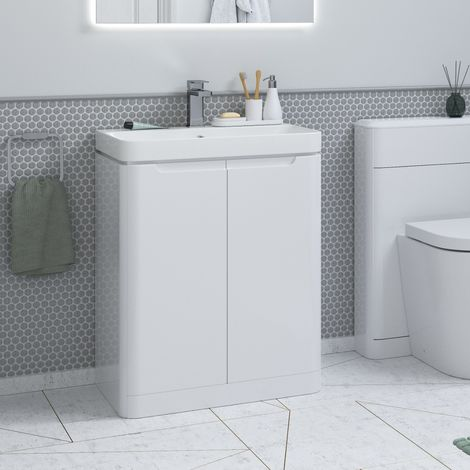Bathroom To Love Lambra 500mm Two Door Unit and Basin in white