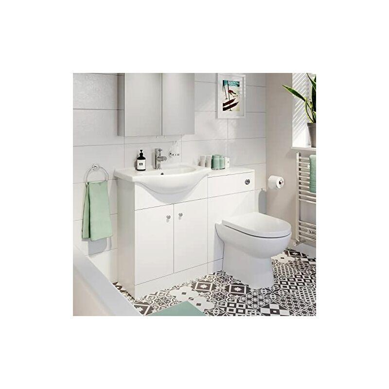 Bathroom Toilet Basin Vanity Unit 1th 1155mm Matte White