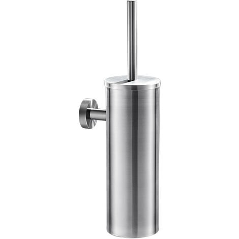 Bathroom Toilet Brush and Holder Stainless Steel and Rust-Resistant Round Bowl Toilet Scrubber Set