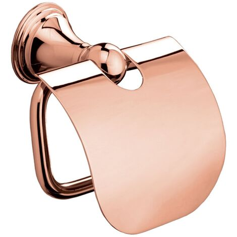 Bathroom Toilet Roll Holder Cover Wall Mounted Rose Gold Stylish Modern Durable