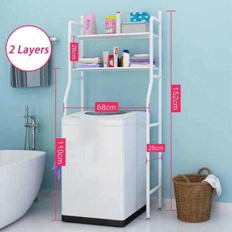 Bathroom Toilet Storage Rack Wall Punch-free Toilet Washbasin Storage Cabinet