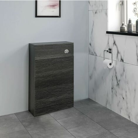 """main image of """"Bathroom Toilet Unit Cloakroom Unit Only Charcoal 500mm Width"""""""
