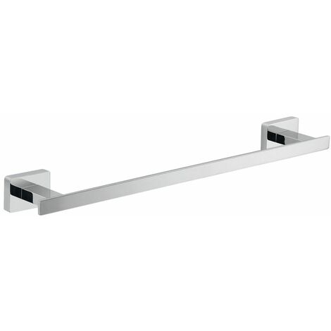 Bathroom Towel Rail 350mm Chrome Square Wall Mounted Stylish Modern