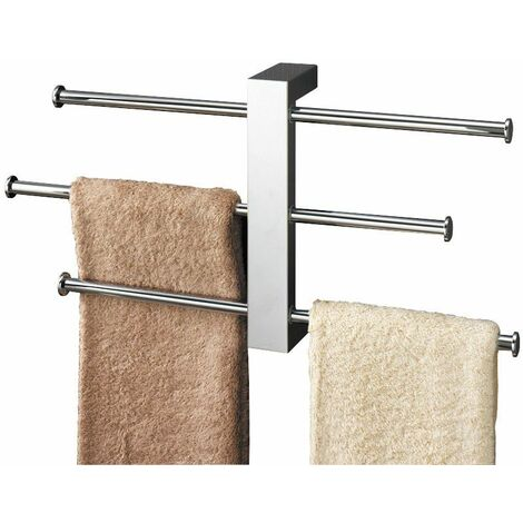 Bathroom Towel Rail Rack Holder Storage Chrome Wall Mounted Stainless Steel