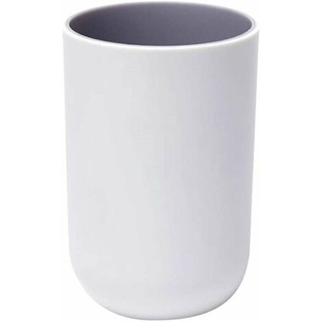 """main image of """"Bathroom Tumbler Toothbrush Holder Cups Portable Mouthwash Cup Reusable Water Cup for Travel Camping Bathroom Tidy Bathroom Accessories, Light Gray"""""""