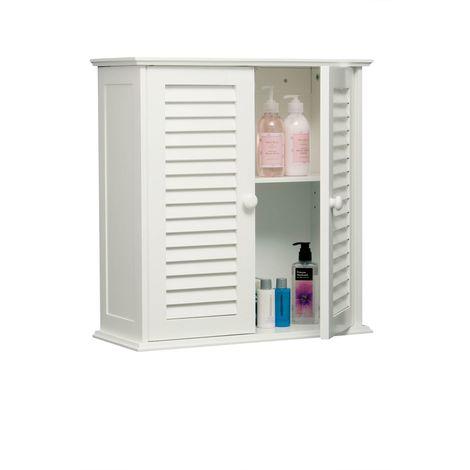 Bathroom Utility Furniture Wall Mounted Double Door Cabinet