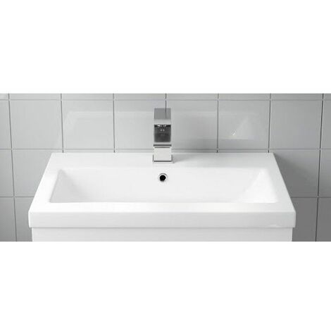 Bathroom Vanity Basin Sink Only Single Tap Hole White