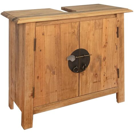 Bathroom Vanity Cabinet Solid Recycled Pinewood 70x32x63 cm