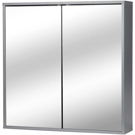 "main image of ""Bathroom Vanity Furniture Wall Cabinet with Mirror Closet Storage Shelf"""